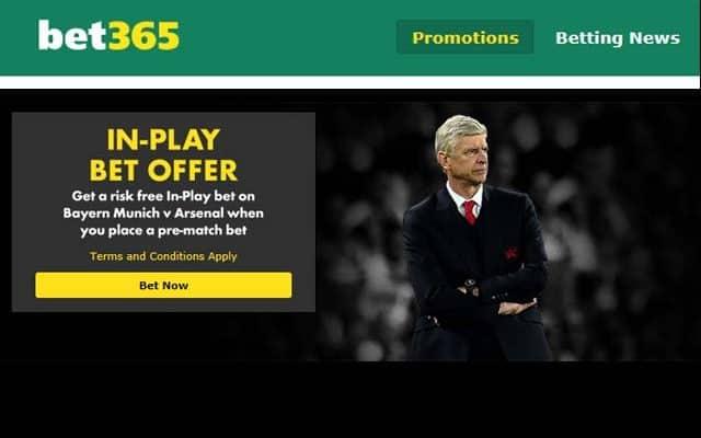 Bayern v Arsenal free bet