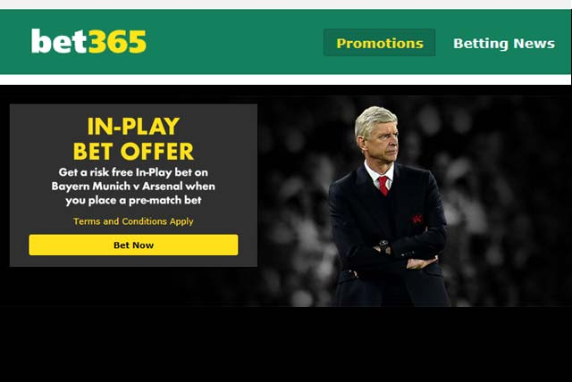 Bayern v Arsenal free bet