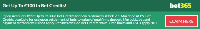 Bet Credits from bet365